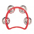 """Mano Percussion 3.5"""" Kids Moon Tambourine in Red"""