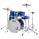 "Pearl Export Plus 22"" Fusion Plus 5 Piece Drum Kit Package in High Voltage Blue  Wrap"