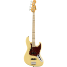 American Original '70s Jazz Bass with Maple Fingerboard in Vintage White