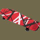 EVH 5150 Skateboard, Red, White and Black Stripes