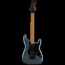Squier Contemporary Stratocaster HH FR, Roasted Maple Fingerboard, Black Pickguard, Gunmetal Metallic