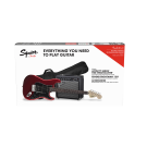 Squier Affinity Series Stratocaster HSS Electric Guitar Starter Pack - Candy Apple Red