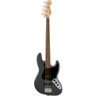 Squier Affinity Series Jazz Bass With Laurel Fingerboard With Black Pickguard In Charcoal Frost Metallic
