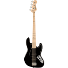 Squier Affinity Series Jazz Bass With Maple Fingerboard With Black Pickguard in Black