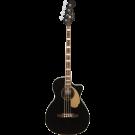 Fender Kingman Acoustic Electric Bass with Walnut Fingerboard in Black