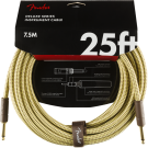 Fender - Deluxe Series Instrument Cable - Straight/Straight - 25' - Tweed