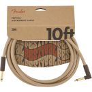 Fender - 10' Angled Festival Instrument Cable - Pure Hemp - Natural