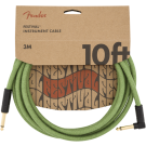 Fender - 10' Angled Festival Instrument Cable - Pure Hemp - Green