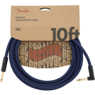Fender - 10' Angled Festival Instrument Cable - Pure Hemp - Blue Dream