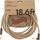 Fender - 18.6' Angled Festival Instrument Cable - Pure Hemp - Natural