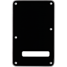 Fender (Parts) - Backplate, Stratocaster,  Black (B/W/B), 3-Ply
