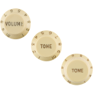 Fender (Parts) - Stratocaster Knobs, Aged White (Volume, Tone, Tone) (3) Left-Handed