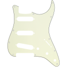 Fender (Parts) - Pickguard, Stratocaster S/S/S, 11-Hole Mount, Mint Green MG/B/MG 3-Ply