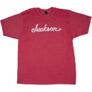 Jackson Logo Men's T-Shirt, Heather Red, L