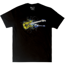 Charvel Satchel Yellow Bengal Guitar Graphic T-Shirt, Black, S