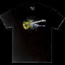 Charvel Satchel Yellow Bengal Guitar Graphic T-Shirt, Black, XXL