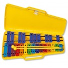 Angel AX25N Glockenspiel 25 Coloured Notes in Yellow Case