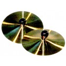 "CPK 7"" Brass  Hand Cymbals with Wood Knob handle"