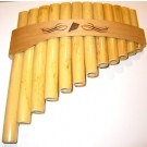 "- 12 Note ""C"" A-E Curved Bamboo, Panpipe/Panflute"