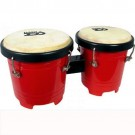 "Mano Percussion 4""&5"" Mini Plastic Bongos Red"