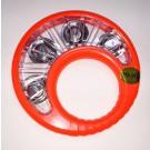 """Mano Percussion 6.5"""" Child Safe Tambourine in Red"""