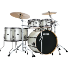 Tama Superstar Custom Maple Hyperdrive 6pce Kit in Satin Arctic Pearl  Lacquer