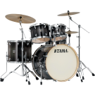 Tama  Superstar Classic 5pc Euro Size Drum Kit with Hardware. Transparent Black Burst.