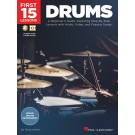 First 15 Lessons - Drums -     (Drums) First 15 Lessons - Hal Leonard. Sftcvr/Online Media Book