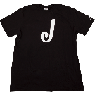 Jackson J Logo T-Shirt, Black, XL