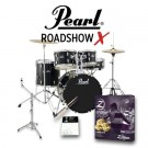 "Pearl Drums Roadshow-X 20"" Fusion Drum Kit Package in Jet Black"