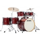 TAMA Superstar Classic 7 Piece Drum Kit with Hardware in  Dark Red Sparkle  Wrap Finish