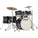 TAMA Superstar Classic 7 Piece Drum Kit with Hardware in Transparent Black Burst Lacquer Finish