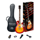 SX Les Paul Style Left Handed Electric Guitar Kit in Cherry Sunburst