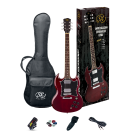 SX SG Style Electric Guitar Kit in Transparent Wine Red