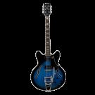 Vox Bobcat V90 Bigsby Semi-Hollow Body Electric Guitar in Black-Blue Burst