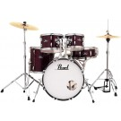 "Pearl Roadshow 5pc 20"" Fusion Drum Kit Package in Red Wine"