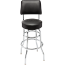 "Fender™ 30"" Blackout Backrest Barstool with Embossed Logo"