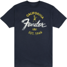 Fender Baja Blue T-Shirt, Blue, XXL