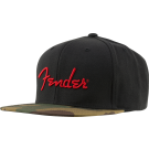 Fender Camo Flatbill Hat, Camo, One Size Fits Most