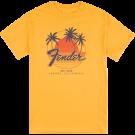 Fender Palm Sunshine Unisex T-Shirt, Marigold, M