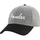 Fender Hipster Dad Hat, Gray and Black, One Size Fits Most