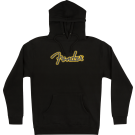 Fender Yellow Stitch Logo Hoodie, Black, L
