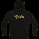 Fender Yellow Stitch Logo Hoodie, Black, XXL