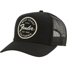 Fender West Coast Trucker Hat, Black, One Size Fits Most