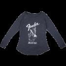 Fender Mermaid Women's Long Sleeve, Navy, L