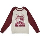 Fender Women's Love Sweatshirt, Oatmeal and Maroon, S
