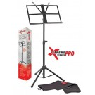 Xtreme Pro  - MS88 Heavy duty black music stand.