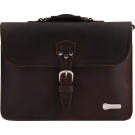 Charvel Limited Edition Leather Laptop Bag, Brown