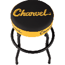 Charvel Toothpaste Logo Barstool, Black and Yellow, 24""