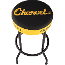 Charvel Toothpaste Logo Barstool, Black and Yellow, 30""